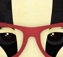 Hipster Badger Sticker