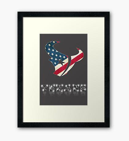 Texans huston Framed Print
