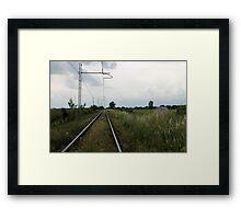 train rails Framed Print