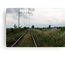 train rails Canvas Print