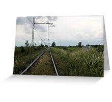 train rails Greeting Card