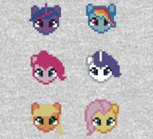 My Little Pony 8 Bit Characters Kids Tee