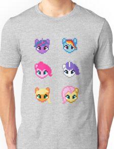 My Little Pony 8 Bit Characters Unisex T-Shirt
