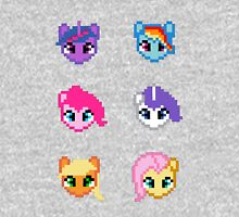 My Little Pony 8 Bit Characters Womens Fitted T-Shirt