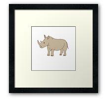 Cute hand drawn rhinoceros Framed Print