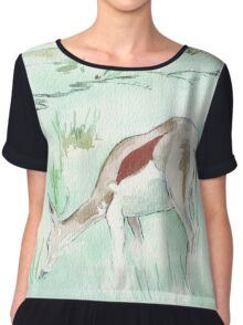 Sketching in the Game Reserve - Springbuck Chiffon Top