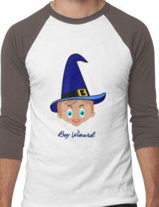 Toon Boy 6 Wizard T-shirt design Men's Baseball ¾ T-Shirt