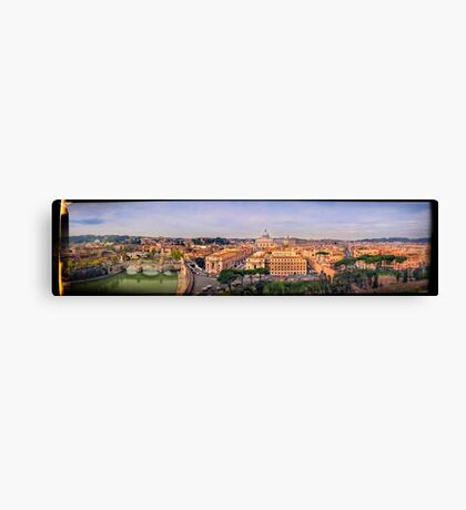 """Rome """"The Eternal City"""" Panoramic Canvas Print"""