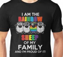 Funny Lesbian - I Am The Rainbow Sheep Of My Family And I'm Proup Of It Tshirts Lesbian Gag Gifts Unisex T-Shirt