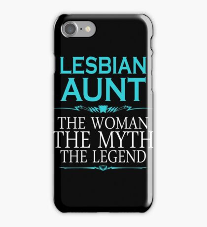 Funny Lesbian - Lesbian Aunt Tshirts Lesbian Gag Gifts iPhone Case/Skin