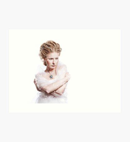 Winter beauty woman portrait Art Print
