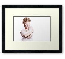 Winter beauty woman portrait Framed Print