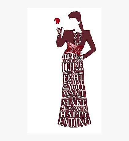 Regina Mills Make Your Own Happy Ending Photographic Print