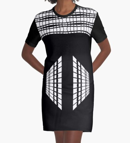 Date Night Lines And Lace  Graphic T-Shirt Dress