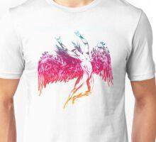 ICARUS THROWS THE HORNS - rainbow oil Unisex T-Shirt