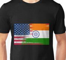Indian American Half India Half America Flag Unisex T-Shirt