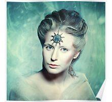 Winter beauty fantasy woman portrait Poster