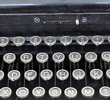 detail of an old typewriter by spetenfia