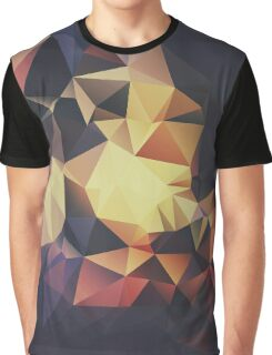 Premium All Over Printed Geometric Design - Brown, Black Yellow, Pastel Colours Graphic T-Shirt