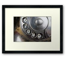 old phone Framed Print