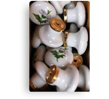 old furniture knobs Canvas Print