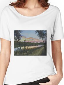 River Sunset Women's Relaxed Fit T-Shirt
