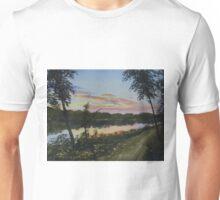 River Sunset Unisex T-Shirt