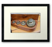 old measures of weights Framed Print