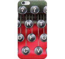 detail of an old typewriter iPhone Case/Skin