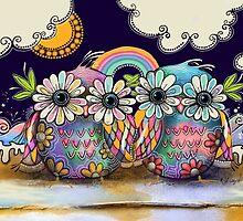 Aloha Owls by © Cassidy (Karin) Taylor