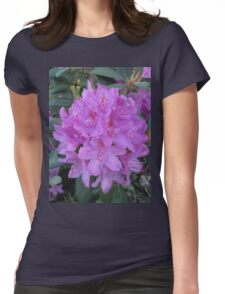 Rhododendron Bouquet Womens Fitted T-Shirt