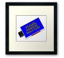 Flash Drives Matter Framed Print