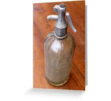 old selz bottle Greeting Card