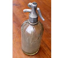 old selz bottle Photographic Print