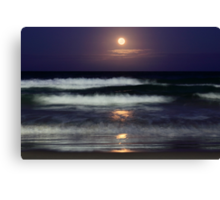 Moonlight Beach Canvas Print