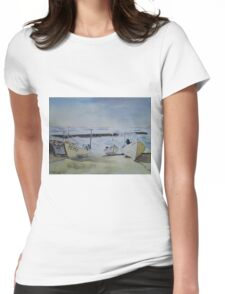 Sennen Cove Fishing Boats Womens Fitted T-Shirt