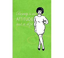 Curvy beauty: gorgeous green Photographic Print