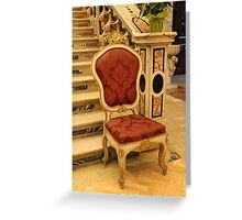 old chair Greeting Card