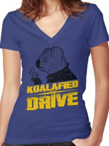 Koalafied To Drive Women's Fitted V-Neck T-Shirt