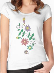 Floral ornament Women's Fitted Scoop T-Shirt