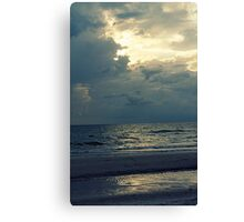 white tropical beach Canvas Print