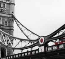 London Bridge Black & White with Red Bus Sticker