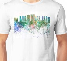 Sao Paulo V2 skyline in watercolor background Unisex T-Shirt