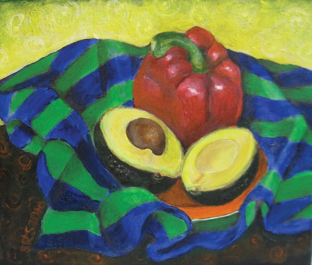 Avocado and Pepper by Shani Sohn