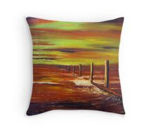 Red at night sailers delight. Throw Pillow