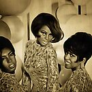 The Supremes in 1967 by Dennis Melling