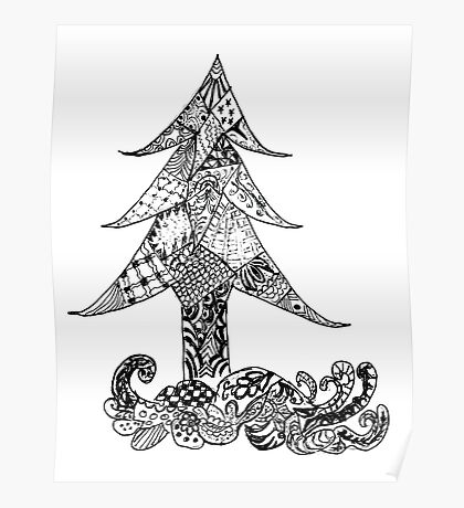 Decorative Xmas Tree 2 Poster