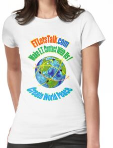 CREATE WORLD PEACE Womens Fitted T-Shirt
