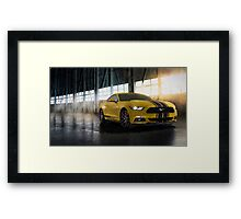 Yellow Mustang Framed Print