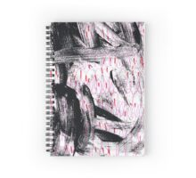 abstract in black, pink and red Spiral Notebook